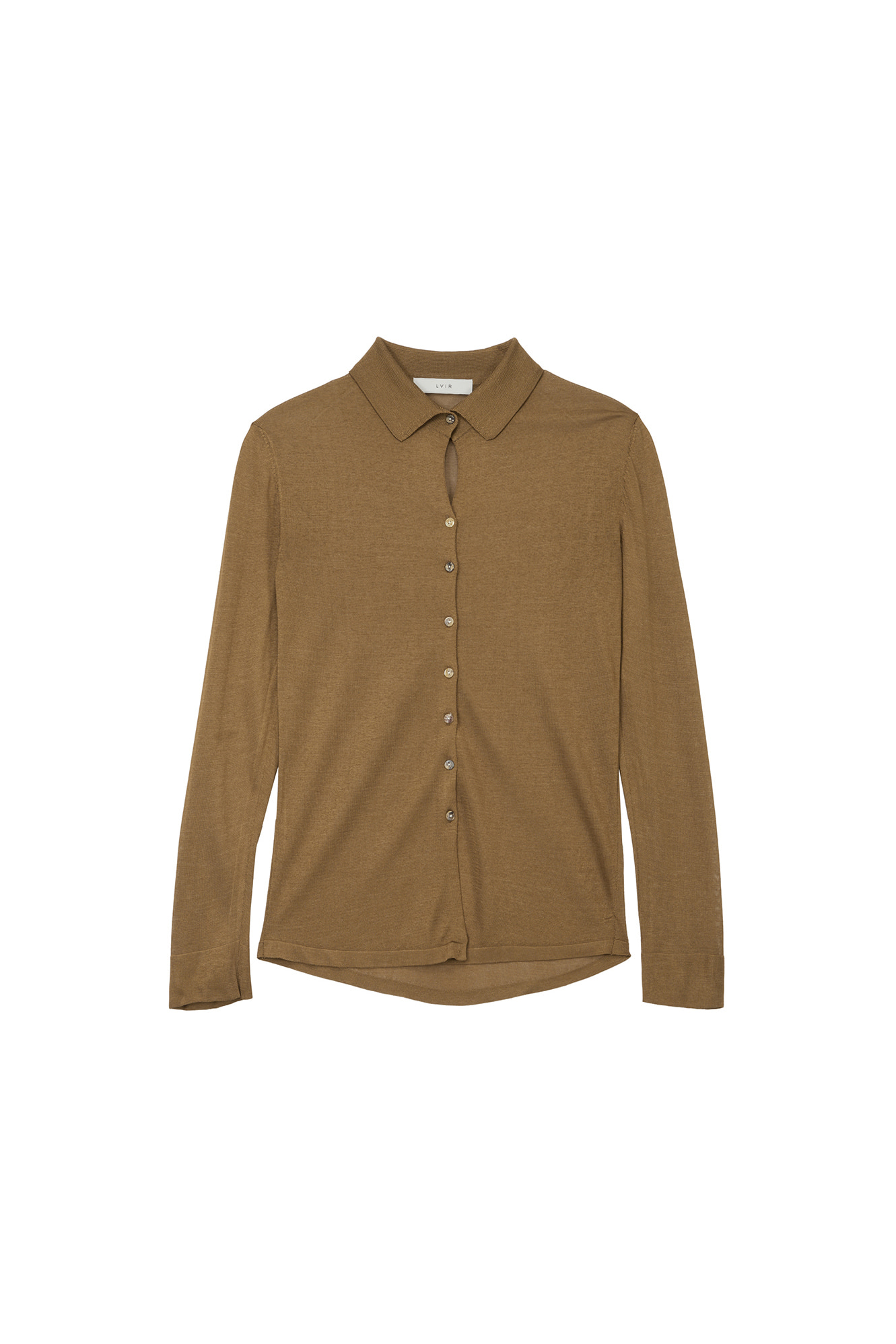 VISCOSE KNITED SHIRTS_BROWN