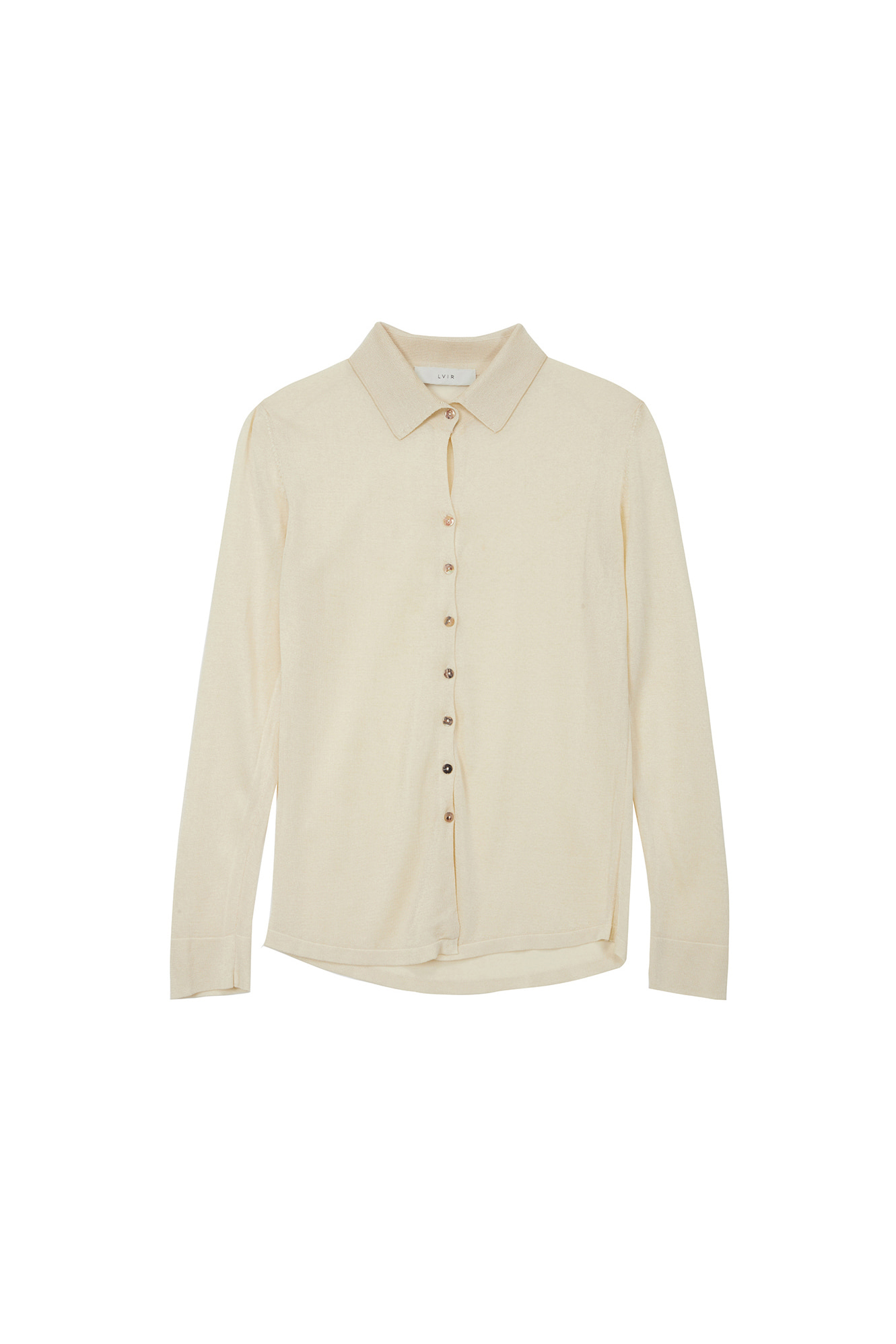 VISCOSE KNITED SHIRTS_LIGHT YELLOW
