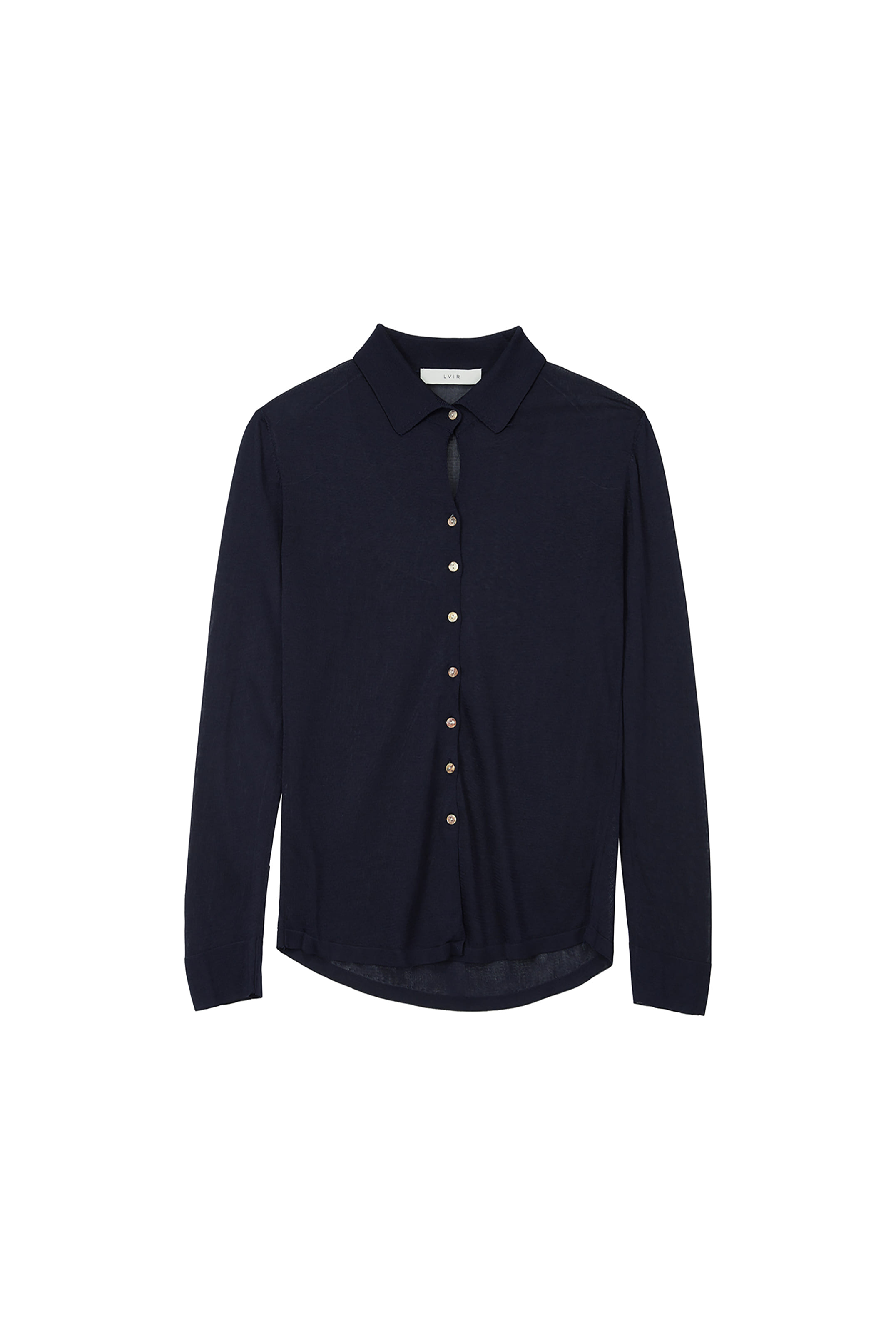 VISCOSE KNITED SHIRTS_NAVY