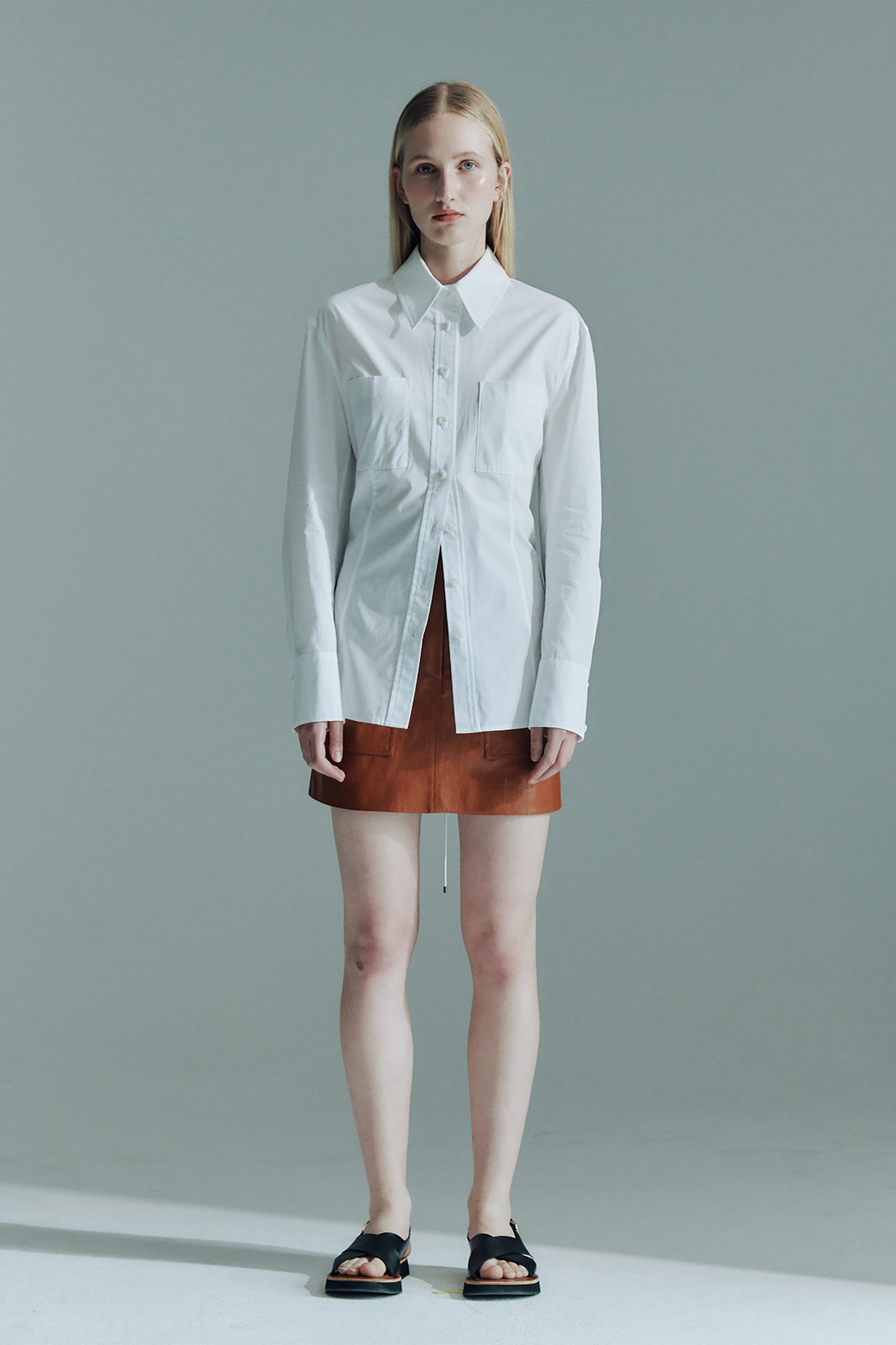 COTTON BACK STRING  SHIRTS_WHITE